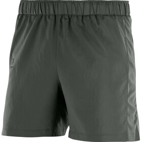 Salomon Agile Running Shorts Men grey